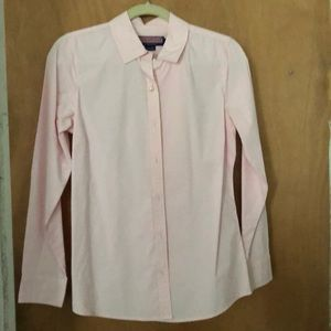 Vineyard vines pink pearl button up